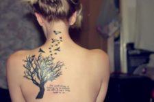 Tree of life and birds tattoo