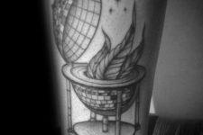 Unique disco ball tattoo