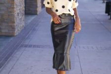 polka dot look for fall