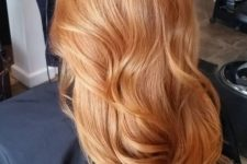 02 gorgeous long strawberry blonde hair with waves looks fantastic and the color play is beautiful