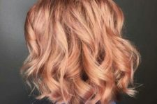 03 a wavy strawberry blonde bob is a chic idea, and a bob is a timeless hair idea