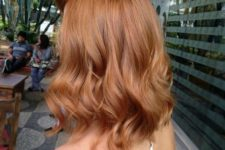 04 a strawberry blonde long bob with waves is a chic idea and a trendy length for now