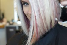 icy blonde hairstyle with cool highlights