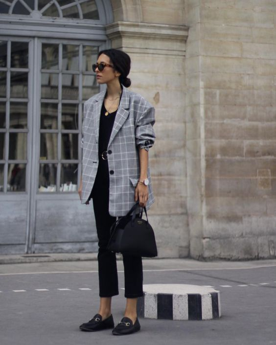 oversized blazer fall look
