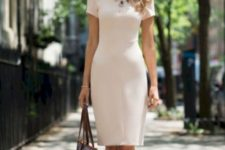 07 if you are choosing a sheath dress, prefer simpler and sleeker fabrics that won't make you older