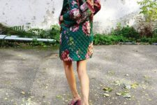 08 a colorful floral quilter coat and a floral bag for lots of prints and cool looks
