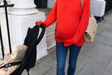 fall maternity outfit
