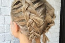 11 a short blonde bob with two braids on top looks super cute and is very comfy to wear