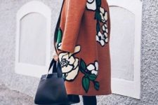 13 a warm and comfy coat with floral appliques for a trendy modern fall or winter look