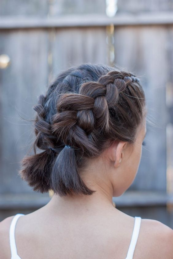 Dutch pigtail braids for a cute and rustic look, a short bob can be enough to make them