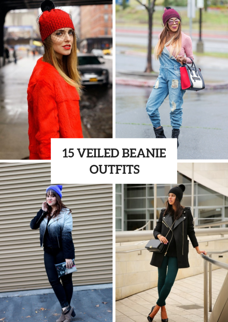 15 Outfit Ideas With Veiled Beanies