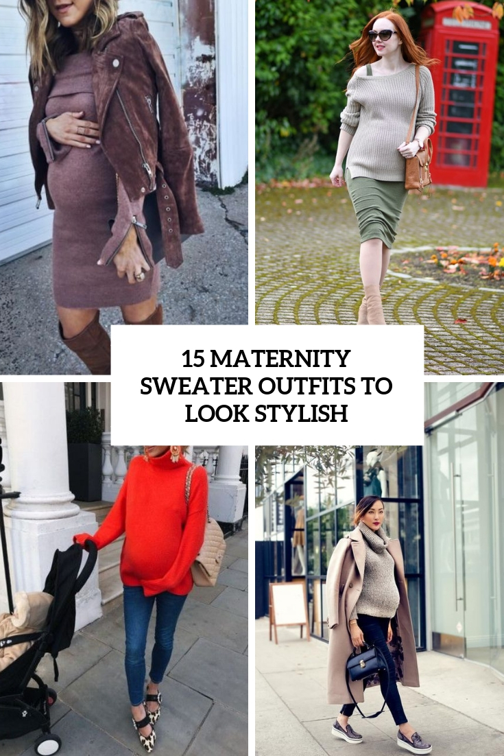 maternity sweater outfits to look stylish cover