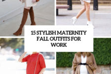 15 stylish maternity fall outfits for work cover