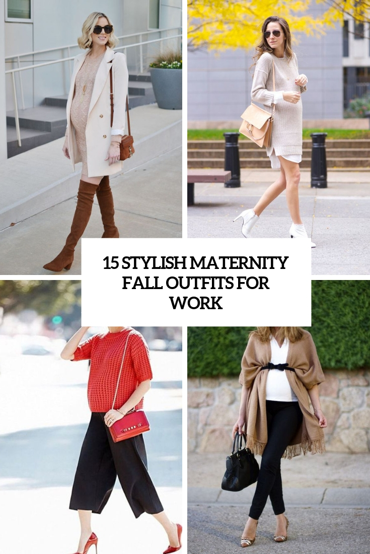 stylish maternity fall outfits for work cover
