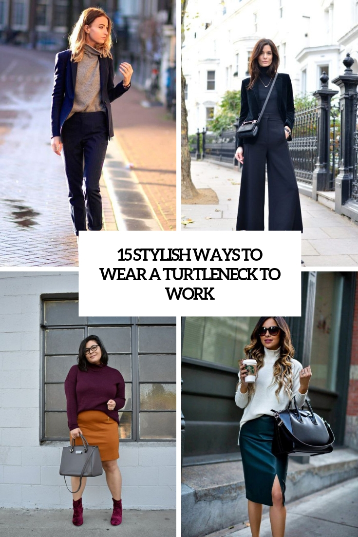How to Wear the Same Turtleneck to Work for a WeekStraight