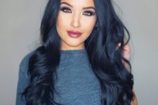 16 deep blue black hair is a cool dark option for daring ladies, very trendy and hot
