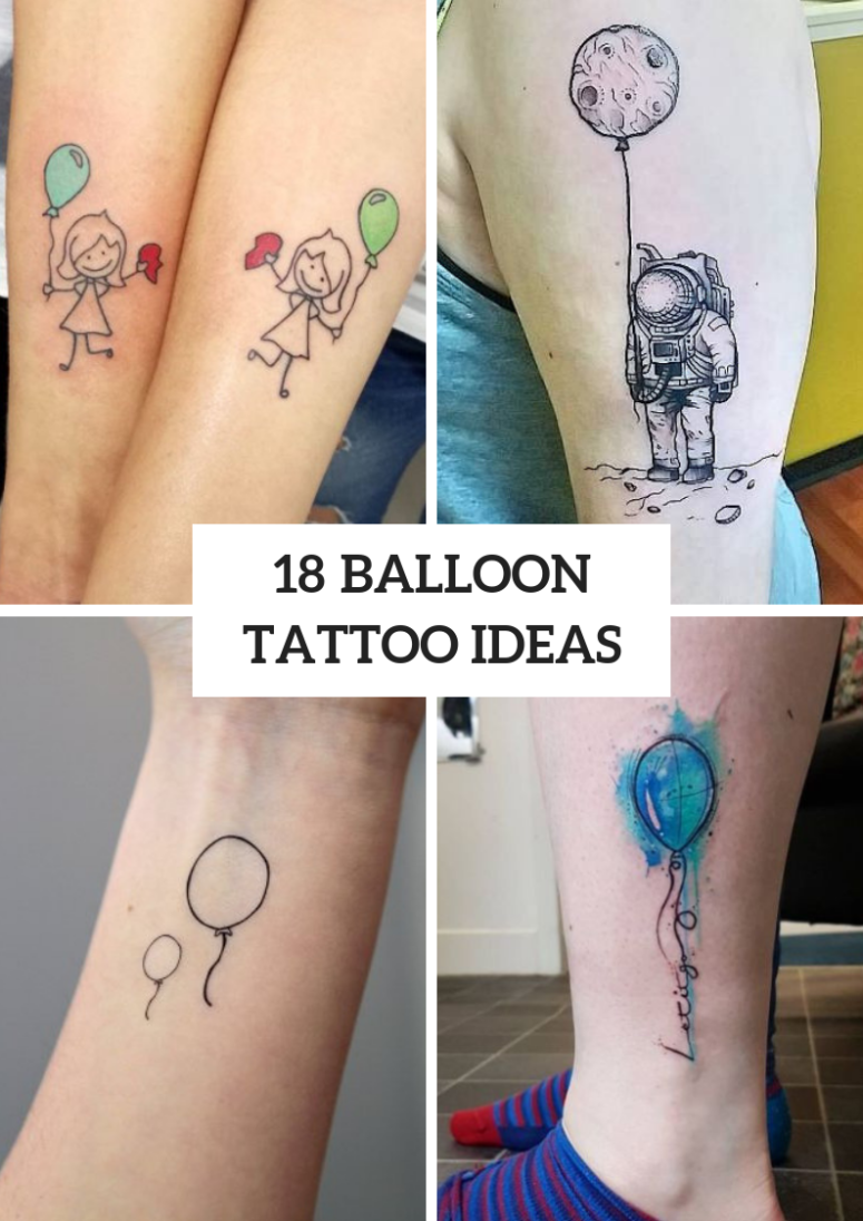 18 Amazing Balloon Tattoo Ideas