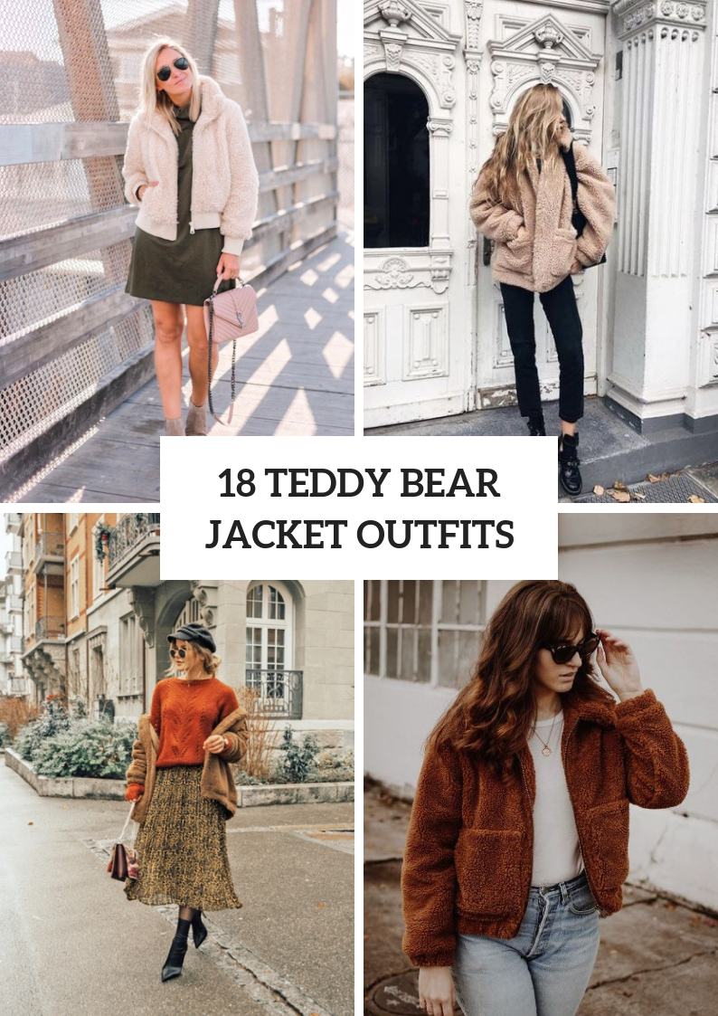 Comfy Outfits With Teddy Bear Jackets