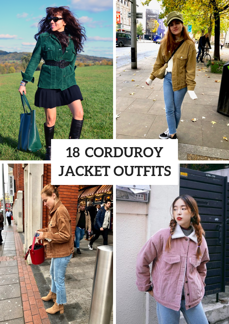 Corduroy Jacket Outfits For Stylish Ladies