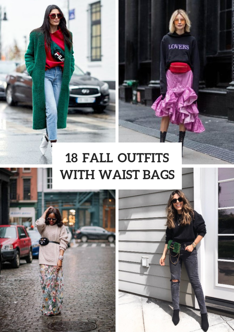 18 Fall Outfits With Waist Bags For Ladies
