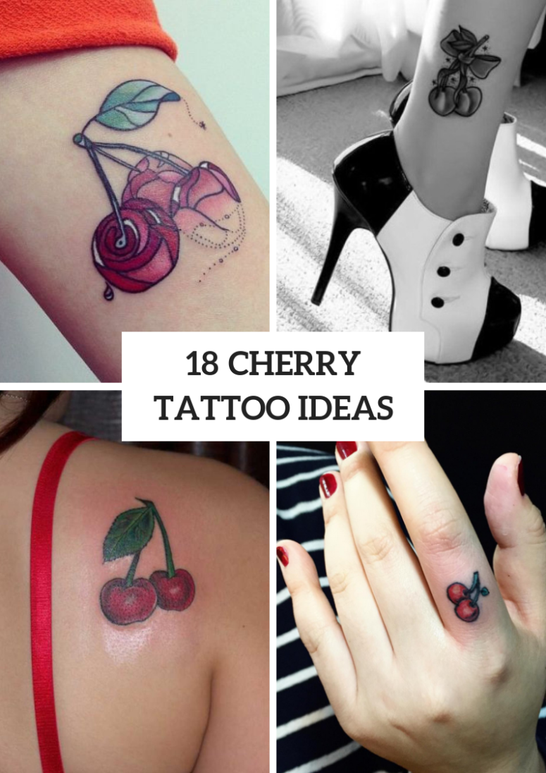 Gorgeous Cherry Tattoos For Ladies