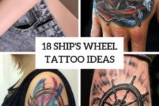 18 Incredible Ship Wheel Tattoo Ideas