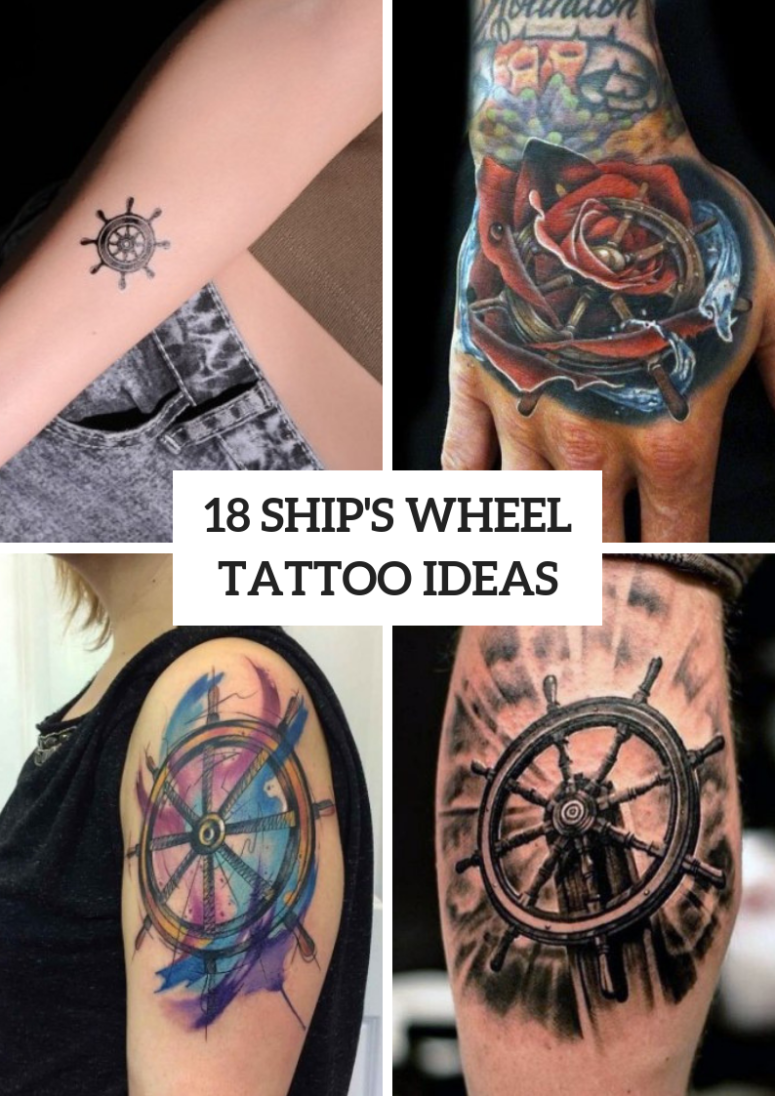 18 Incredible Ship Wheel Tattoo Ideas