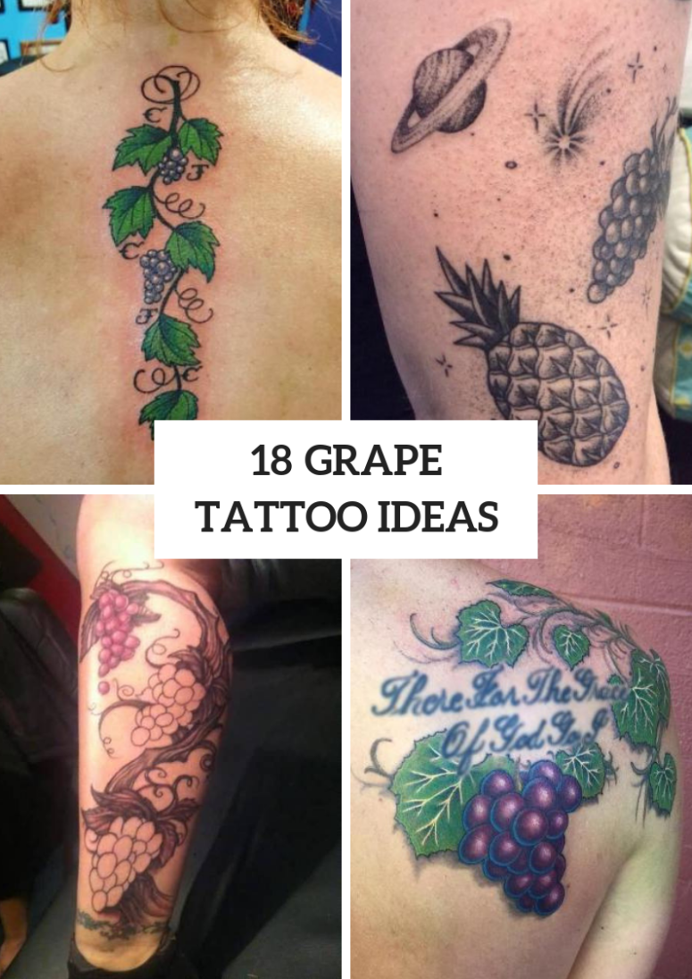 18 Interesting Grape Tattoo Ideas