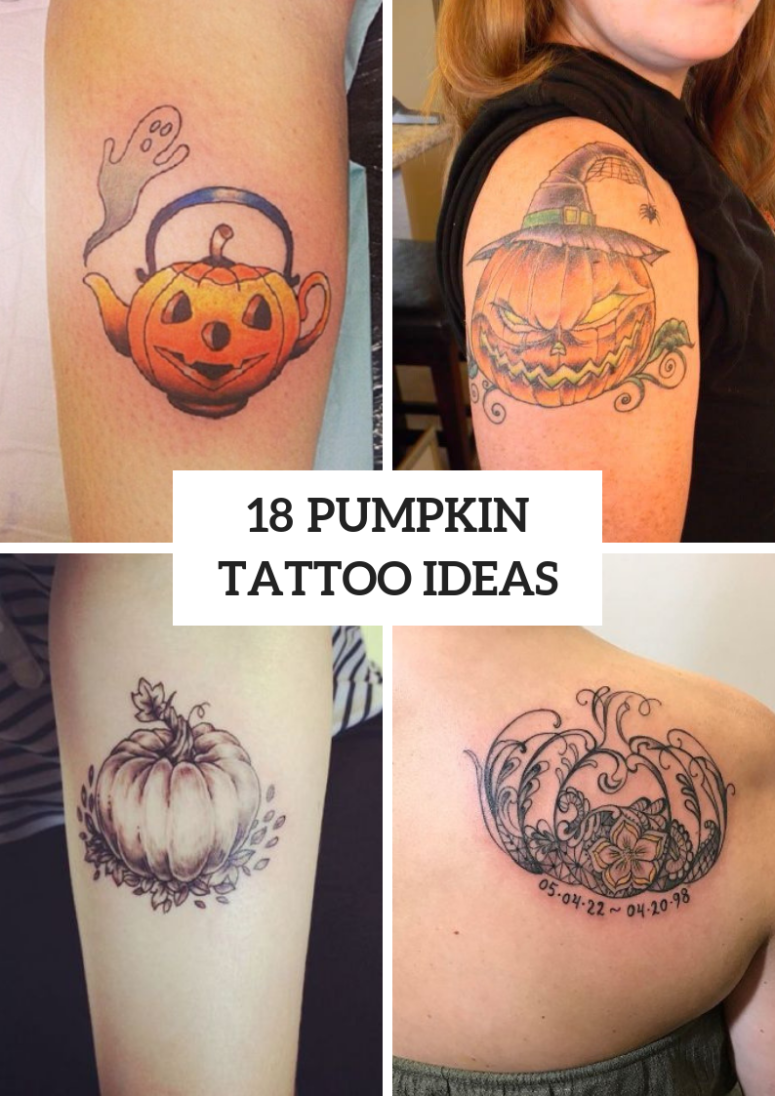 18 Pumpkin Tattoo Ideas To Repeat