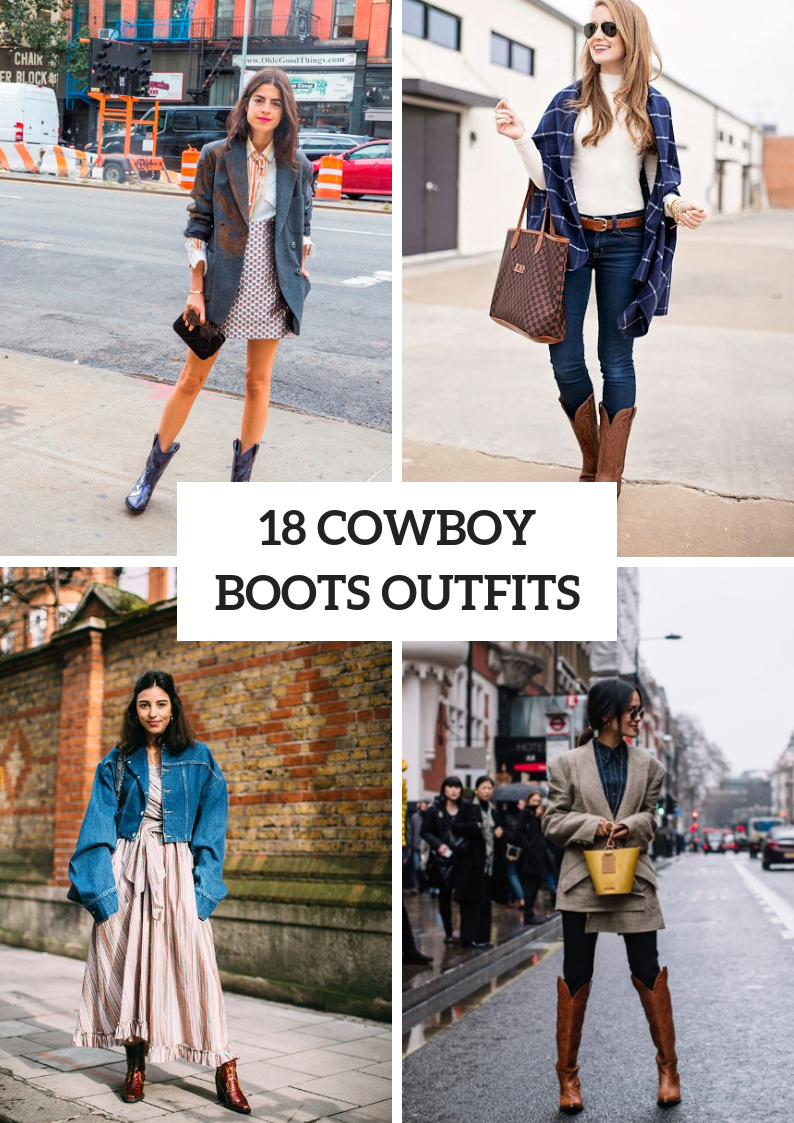 Women Outfits With Cowboy Boots