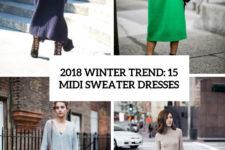 2018 winter trend 15 midi sweater dresses cover