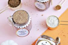 DIY pumpkin spice sugar scrub