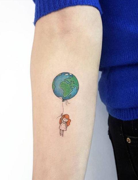 995584758 18 Amazing Balloon Tattoo Ideas - Styleoholic