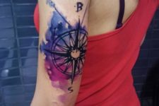 Artistic tattoo on the arm