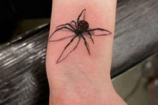 Awesome 3D spider tattoo on the wrist