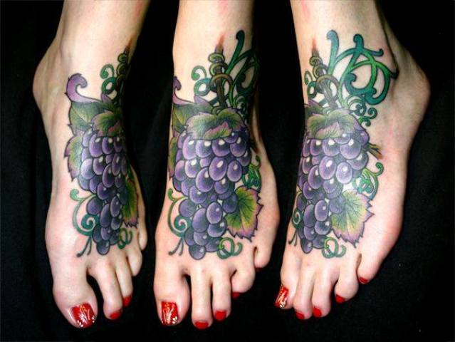 Big tattoo idea on the foot
