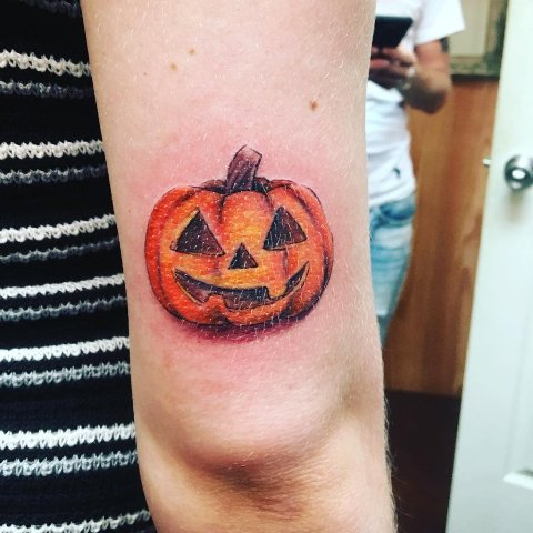 Classic Halloween tattoo