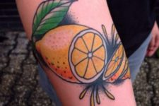 Colorful tattoo on the forearm