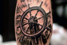 Cool tattoo design on the leg