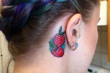 Cute tattoo idea behind the ear