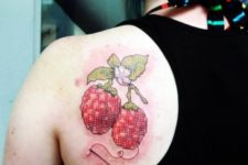 Embroidery tattoo idea on the shoulder