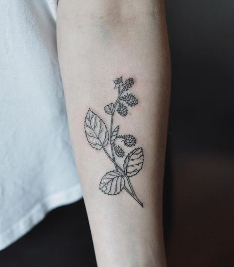 Gentle tattoo idea on the forearm