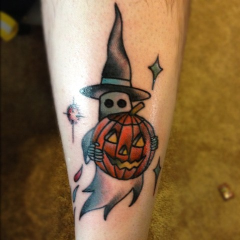 Halloween tattoo idea on the arm