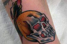 Lemon and skull tattoo idea