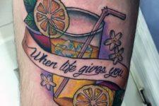 Lemonade and lemons tattoo