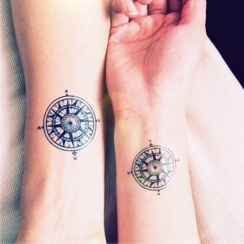Matching tattoos on the wrists