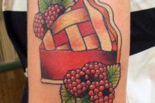 Raspberry pie tattoo design