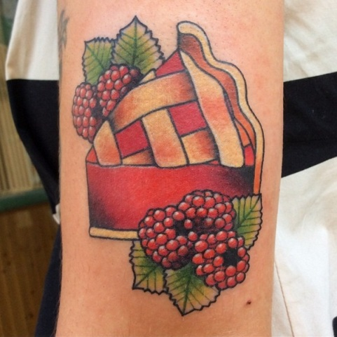 Raspberry pie tattoo design