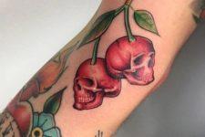 Scary tattoo idea on the forearm