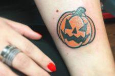 Tiny tattoo on the arm